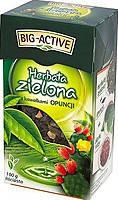 """Чай зеленый заварной с кусочками ягод и фруктов (крупный лист) """" Herbata Zielona """" 100 г цветы кактуса"""
