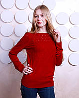 """Красивый женский свитер """"Моника"""" - бордовый"""