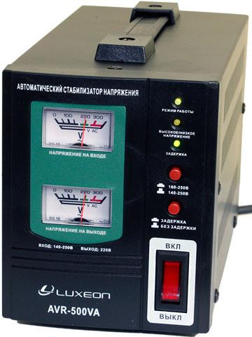 Стабилизатор напряжения релейный Luxeon AVR-500VA 500Вт