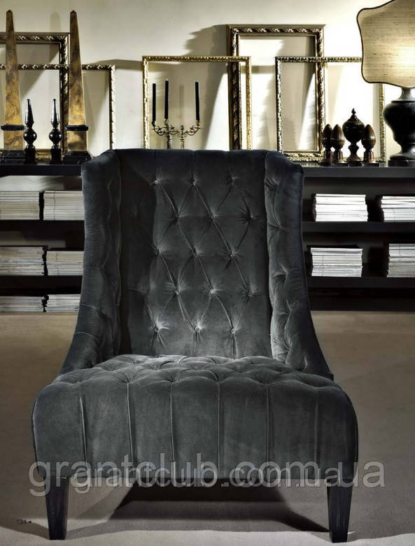 Итальянское кресло с высокой спинкой и декором капитоне VITTORIA фабрика Softhouse