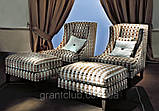 Итальянское кресло с высокой спинкой и декором капитоне VITTORIA фабрика Softhouse, фото 3