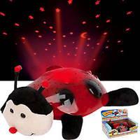 Божья коровка ночник-проектор звездного неба, музыкальная / cartoon ladybird night sky constellation,