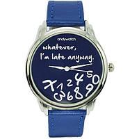 Наручные часы Опаздываю на синем ремешке