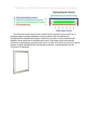 Схема устройства светодиодной панели