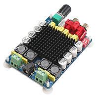 Плата усилителя на микросхеме TDA7498 D класс 80 + 80 Вт.