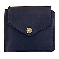 Мужской кожаный кошелёк на кнопке BlankNote 4.2 Ночное небо