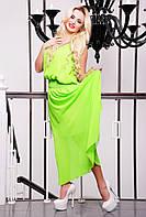 42,44,46,48,50 р Сарафан Миранда салатовый женский длинный в пол зеленый летний батал платье макси красивое
