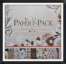 """Набір паперу 24 аркуша + 3 листа шаблонів """"Elegent flowers"""" (30,5*30,5 см)"""