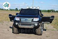 Детский двухместный электромобиль джип Ford Ranger на резиновых колесах, лакированный