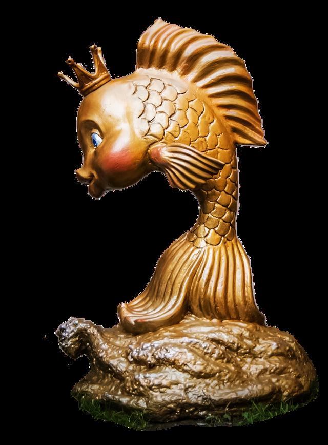 Садово-парковая скульптура - золотая рыбка