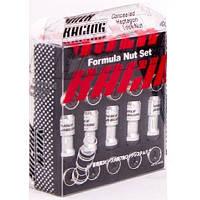 Volk Racing ГАЙКА  chrome+black M09 (20+2key) 12мм*1.25мм