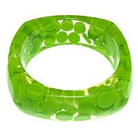 Пластиковый браслет Лето лайм