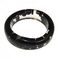 Пластиковый браслет на руку B001746 чёрный