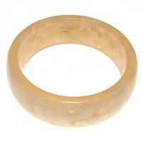 Пластиковый браслет B001777 бежевый