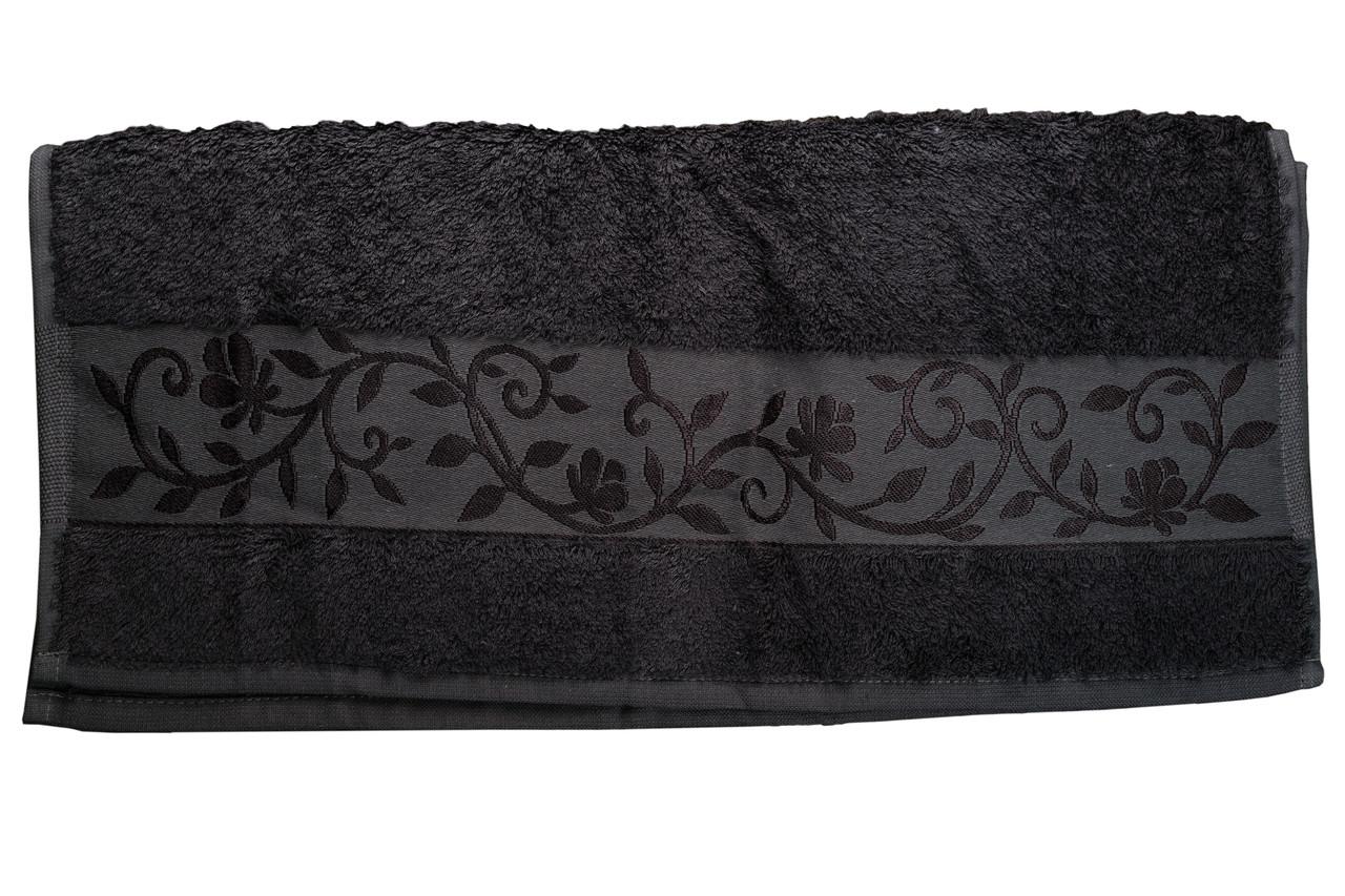 Полотенце махровое Hanibaba бамбук 70х140 темно-серое