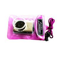 Подводный чехол для фотоаппаратов мыльниц, розовый