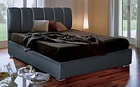 Кровать Олимп в обивке с мягким изголовьем полуторная