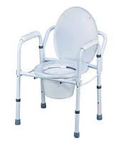 Складной регулируемый туалетный стул, цвет серебристый, Nova, Тайвань