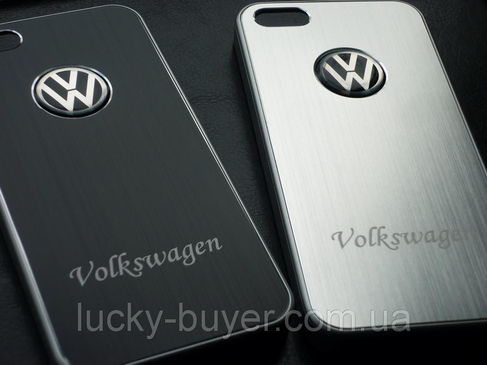 Чехлы для iPhone 5 5S Volkswagen металлические