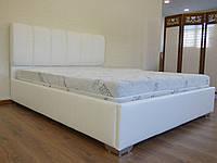 Кровать Олимп в обивке с мягким изголовьем двуспальная