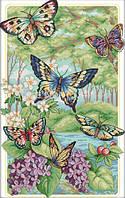 Вышивка крестиком Лесные бабочки 34х48 см (арт. MK023)