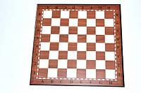Доска картонная для игры в шахматы, шашки. Цвет: коричневый. Размер 33 х 33 см