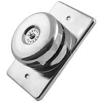 Дверной звонок проводной Genova JX-125, металл, частота 60 Гц, работа от сети 220 В, 111х69 мм, крепеж