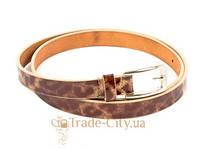 Ремень узкий женский кожаный eterno (ЭТЕРНО) a0129-beige