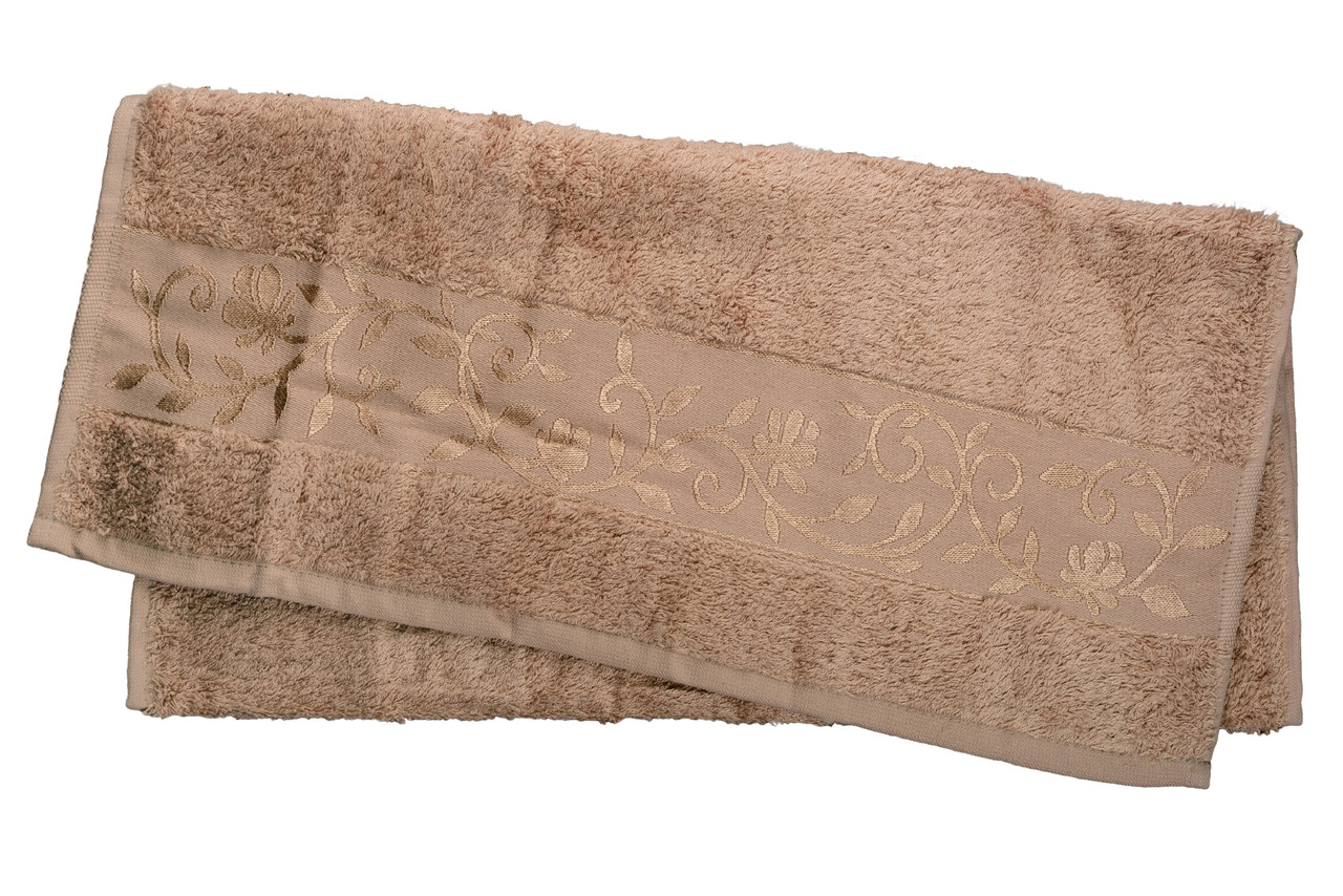 Полотенце махровое Hanibaba бамбук 70х140 светло-бежевое