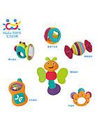 Набор детских погремушек для малыша huile toys 6 штук (939a)