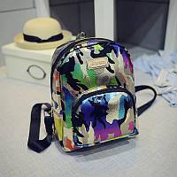 Рюкзак  молодежный камуфляжный (цветной)