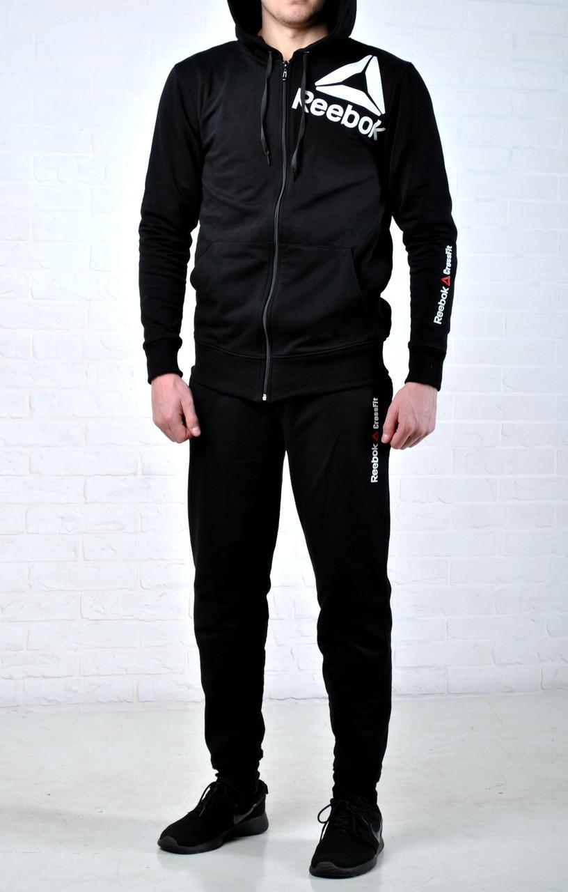 1a0cc49ef Мужской спортивный костюм рибок (Reebok), черный реплика -