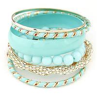 Комплект браслетов Регина бирюзовый