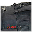 Военная сумка-рюкзак черная транспортировочная, 85л П5050, фото 8