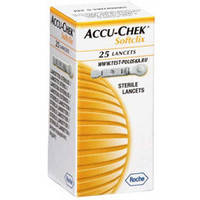 Ланцеты «Акку Чек Софткликс» (Accu-Chek Softclix), 25 шт, Roche Diagnostics Gmbh, Германия