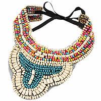Ожерелье-воротник Эсмеральда P001575 разноцветное