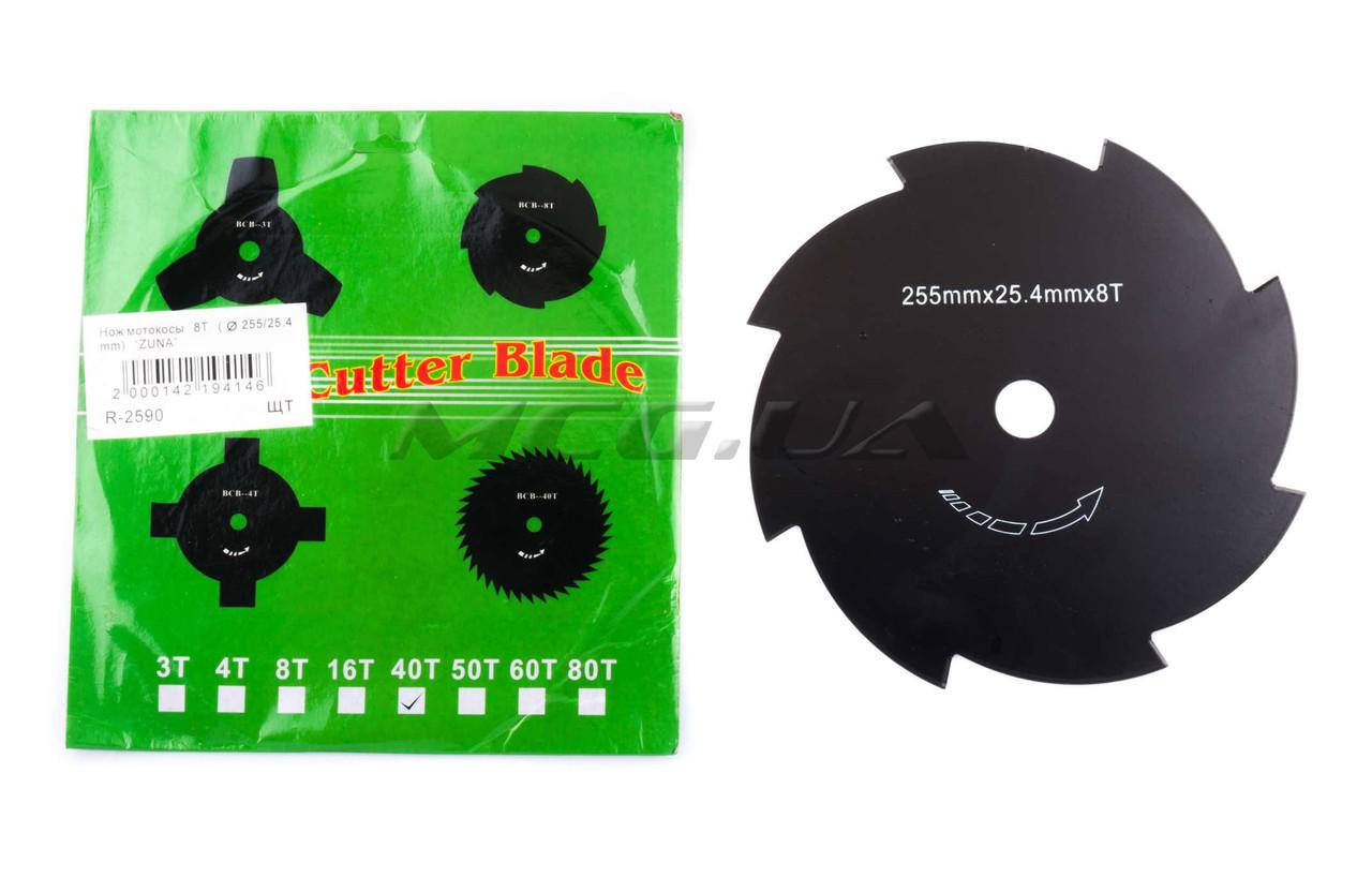 """Нож мотокосы   8T   (Ø255/25.4 mm)   """"MANLE"""""""
