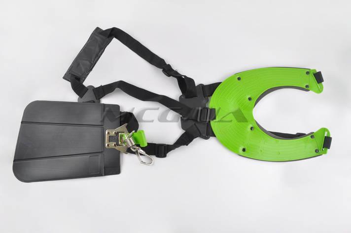 Ремень плечевой профессиональный мотокосы (зеленый), фото 2