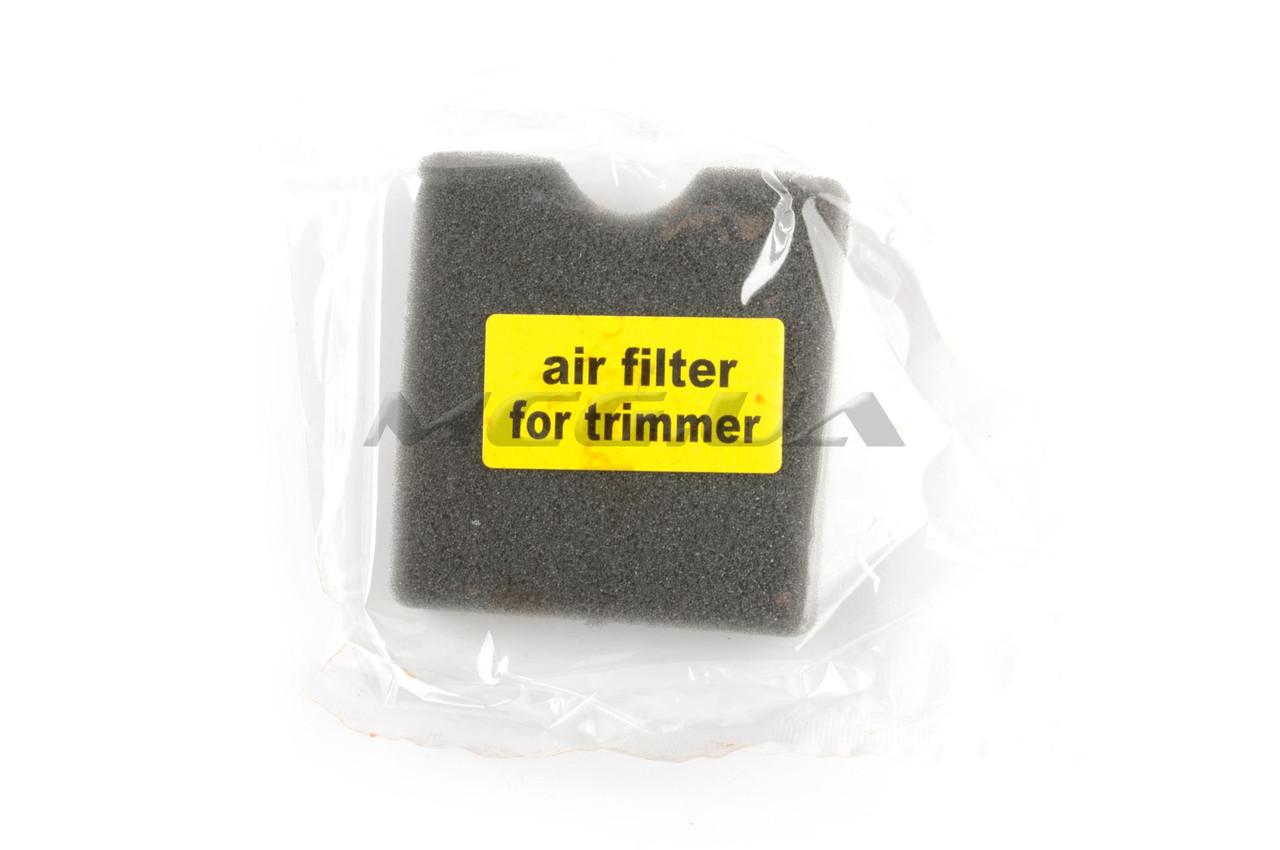 Элемент воздушного фильтра мотокосы   квадратный   (поролон сухой)   (черный)