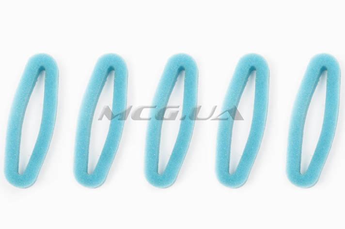 Элемент воздушного фильтра мотокосы   круглый   (поролон с пропиткой, 5шт)   (зеленый), фото 2