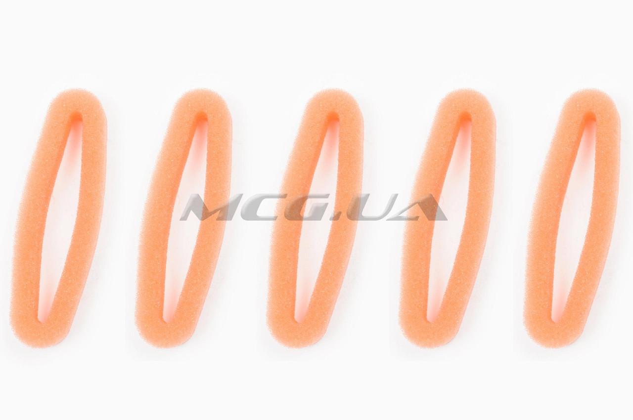 Элемент воздушного фильтра мотокосы   круглый   (поролон с пропиткой, 5шт)   (красный)