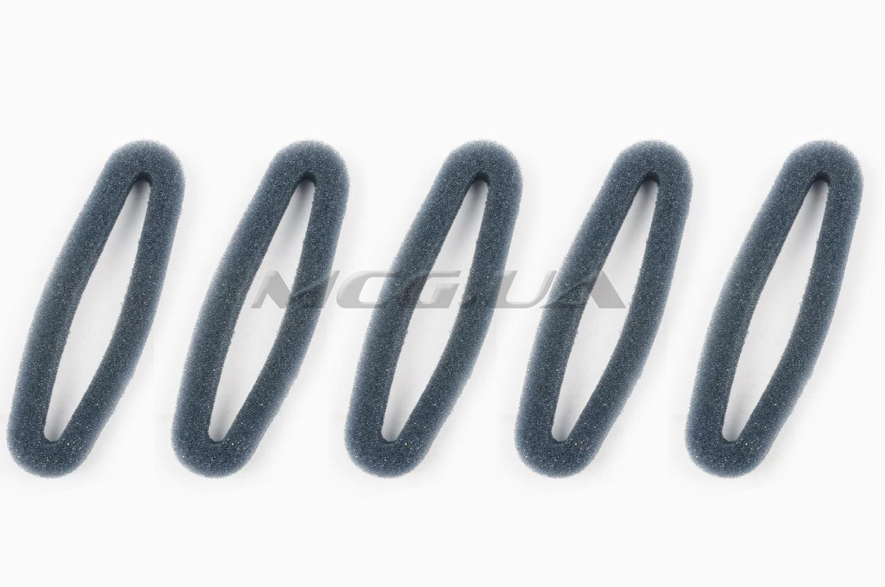 Элемент воздушного фильтра мотокосы   круглый   (поролон с пропиткой, 5шт)   (черный)
