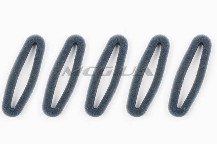 Элемент воздушного фильтра мотокосы   круглый   (поролон с пропиткой, 5шт)   (черный), фото 2