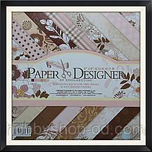 """Набір паперу 40 аркушів """"Elegant flowers"""" (20,5*20,5 см)"""