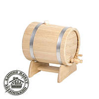 Жбан-бочка для вина дубовая, 3 л (нержав. мет.)