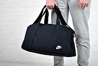 Сумка найк спортивная (Nike), черная реплика