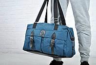 Синяя Спортивная сумка, дорожная из текстиля