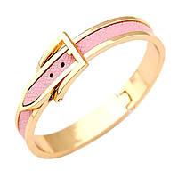 Браслет Ремешок розовый под золото