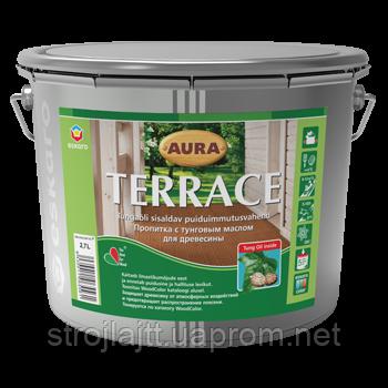 Декоративно-защитная пропитка для древесины Aura Terrace Аура Тераса 9л