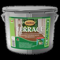 Декоративно-защитная пропитка для древесины Aura Terrace Аура Террасе 9л